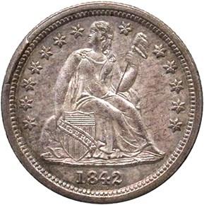 1842 10C MS obverse