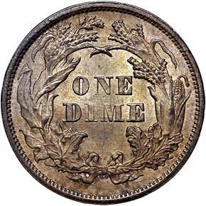 1875 10C MS reverse