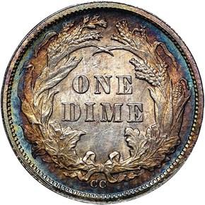 1876 CC 10C MS reverse