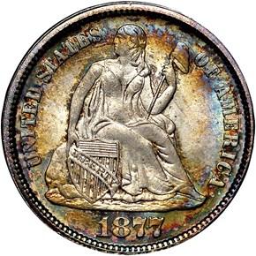 1877 10C MS obverse
