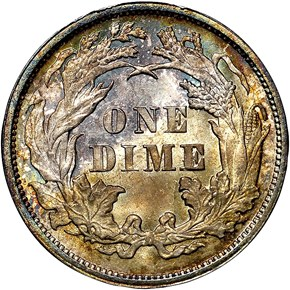1877 10C MS reverse
