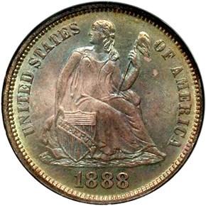 1888 10C MS obverse
