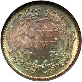 1888 10C MS reverse