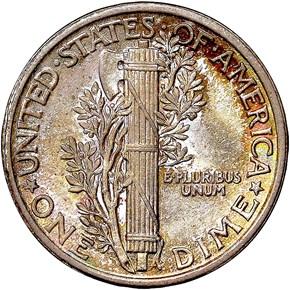 1916 MERCURY 10C MS reverse