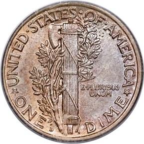 1919 D 10C MS reverse