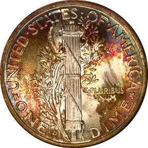 1939 D 10C MS reverse