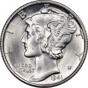 1941 S 10C MS obverse