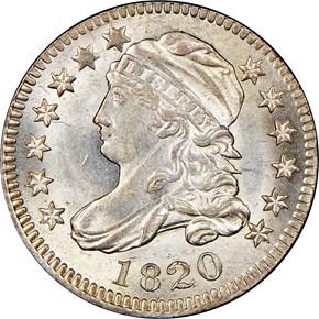 1820 10C MS obverse