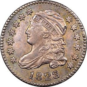1823/2 10C MS obverse