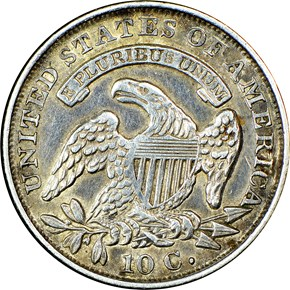 1832 10C MS reverse