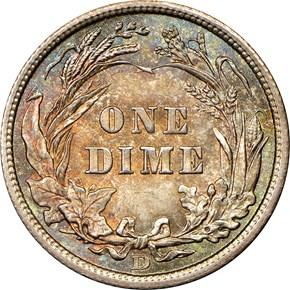 1906 D 10C MS reverse