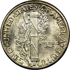 1928 10C MS reverse