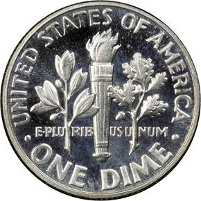 1950 10C PF reverse