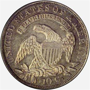 1834 10C PF reverse