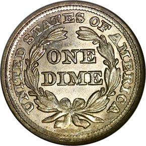 1856 SMALL DATE 10C MS reverse