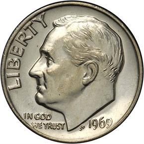 1969 10C MS obverse