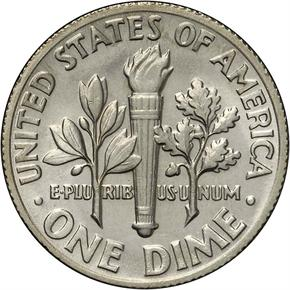1971 10C MS reverse