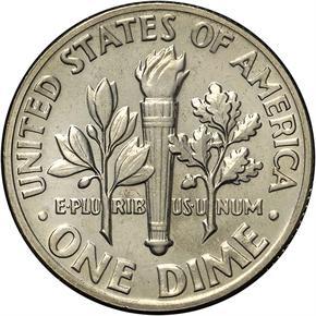1971 D 10C MS reverse