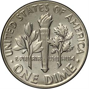 1975 10C MS reverse