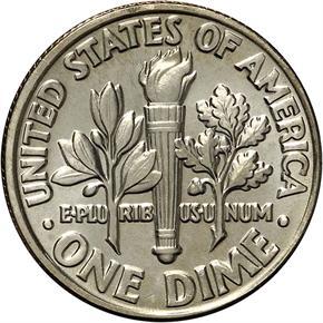1981 D 10C MS reverse