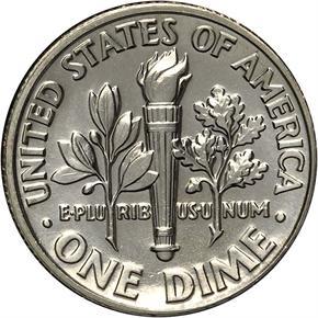 1987 D 10C MS reverse