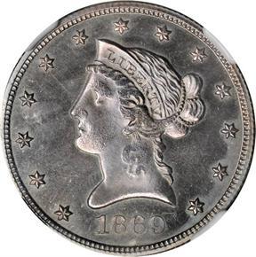 1869 J-783 $10 PF obverse