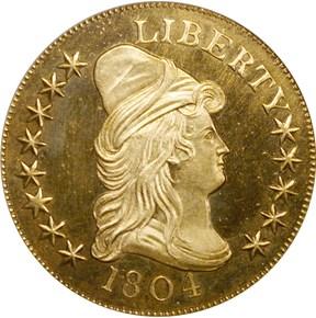 1804 PLAIN 4 BD-2 $10 PF obverse
