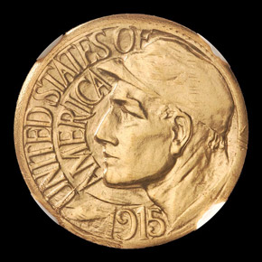1915 PAN PACIFIC J-1966 G$1 PF obverse