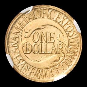 1915 PAN PACIFIC J-1966 G$1 PF reverse
