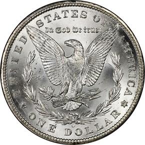 1899 O $1 MS reverse