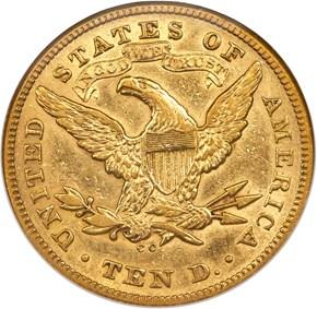 1873 CC $10 MS reverse