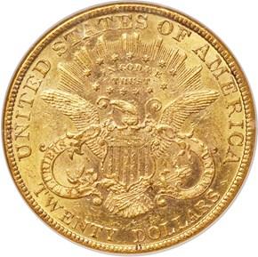 1891 $20 MS reverse