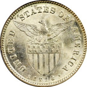 1918 S USA-PHIL 20C MS reverse