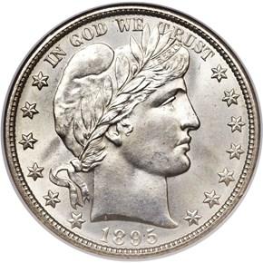 1895 O 50C MS obverse