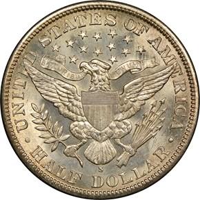 1893 S 50C MS reverse