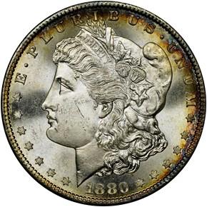 1880 S $1 MS obverse