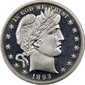 1893 50C PF obverse