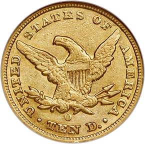 1848 O $10 MS reverse