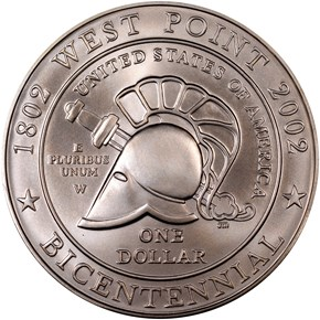 2002 W WEST POINT BICENTENNIAL S$1 MS reverse