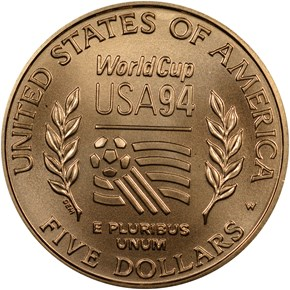 1994 W WORLD CUP $5 MS reverse