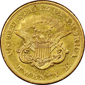 1851 O $20 MS reverse