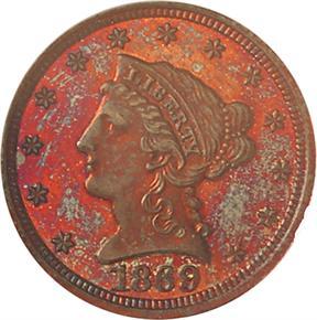 1869 J-769 $2.5 PF obverse