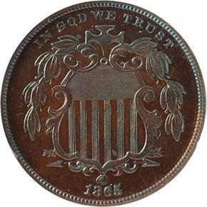 1865 J-417 5C PF obverse