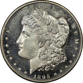 1895 S $1 MS obverse
