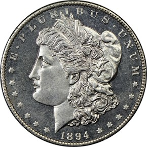 1894 $1 MS obverse