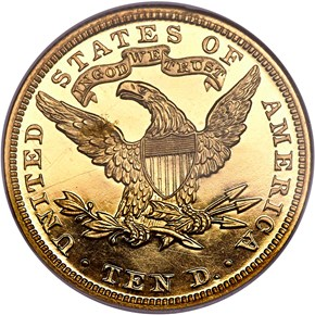 1882 $10 PF reverse