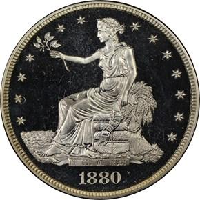 1880 T$1 PF obverse