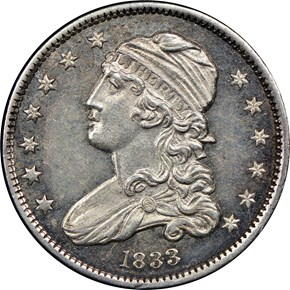 1833 25C MS obverse