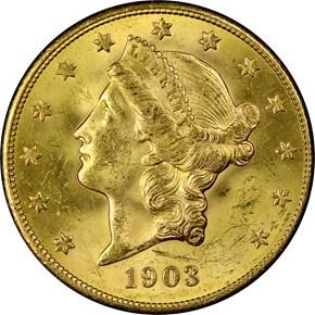 1903 S $20 MS obverse