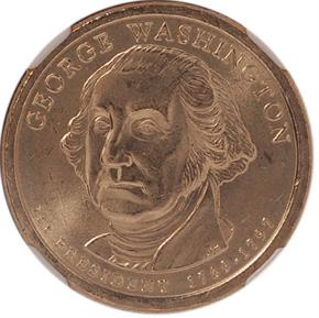 2007 P GEORGE WASHINGTON $1 MS obverse